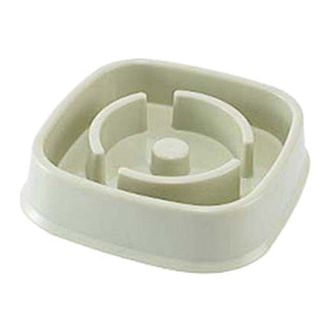 Slow Speed Feeding Bowl  Plastic Food Slowing Eating Feeder for Dog