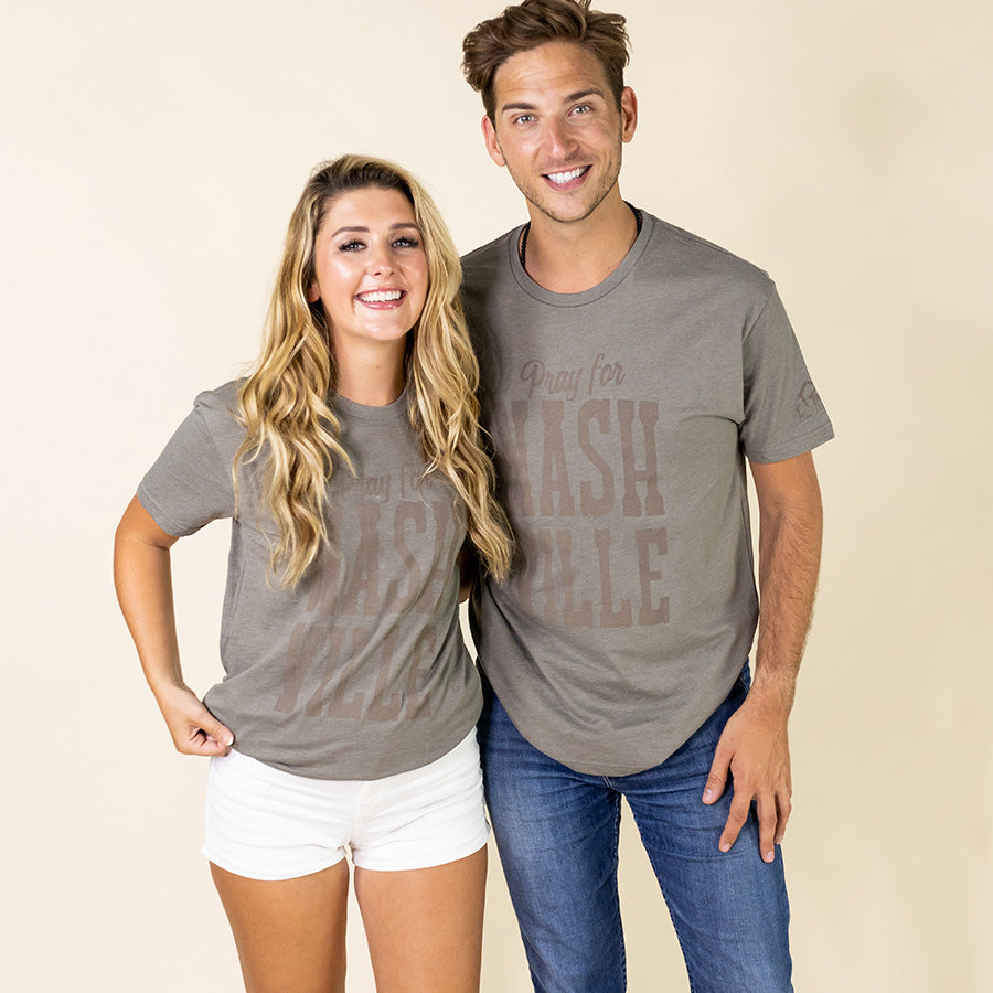 Nashville Fundraising Tee - Warm Grey