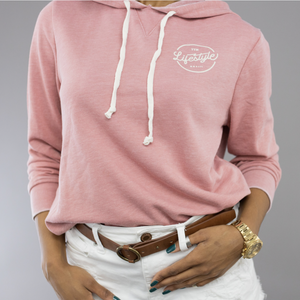 Day Off French Terry Hoodie - Rose Bloom