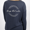 Dropped Shoulder Heavy Knit Pullover - Navy