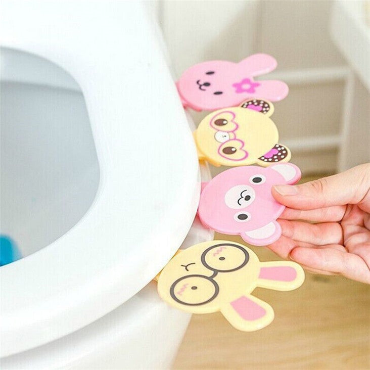 Creative Gadget Cartoon Plastic Closestool Opener Safe for Child Bath Tools