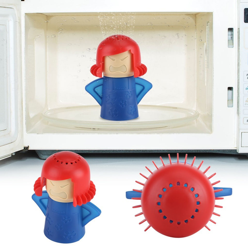 Cute Mom Microwave Oven Steam Cleaner Kitchen Cleaning Gadget Tool