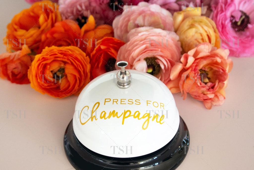 Press For Champagne Bell And Flowers Spring Fever Collection 9924L Landscape