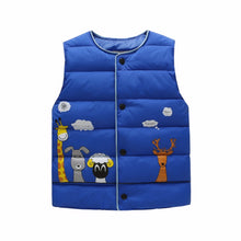 Load image into Gallery viewer, Animal Pals Vest, Blue, 18M - CeCe & Jax