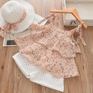 White Daisies Top & Shorts Set, Pastel Pink, 2T - CeCe & Jax