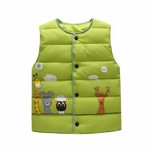 Animal Pals Vest, Lime Green, 18M - CeCe & Jax