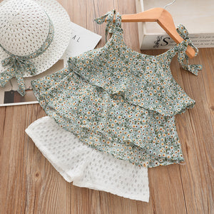 White Daisies Top & Shorts Set
