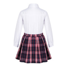 Load image into Gallery viewer, Amy Long Sleeve Shirt & Pleated Skirt & Bow-knot Set, ,  - CeCe & Jax