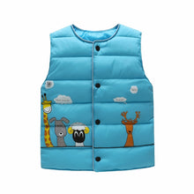 Load image into Gallery viewer, Animal Pals Vest, Turquoise, 18M - CeCe & Jax