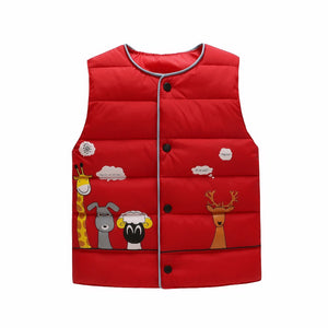 Animal Pals Vest, Red, 18M - CeCe & Jax
