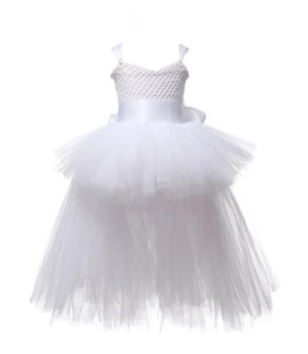 Maya Tutu Dress w| Train, White, 2T - CeCe & Jax