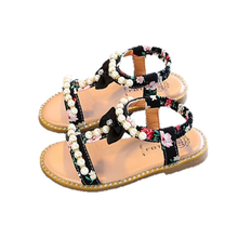 Load image into Gallery viewer, Bree Pearl Sandals, Black, 10.5 - CeCe & Jax