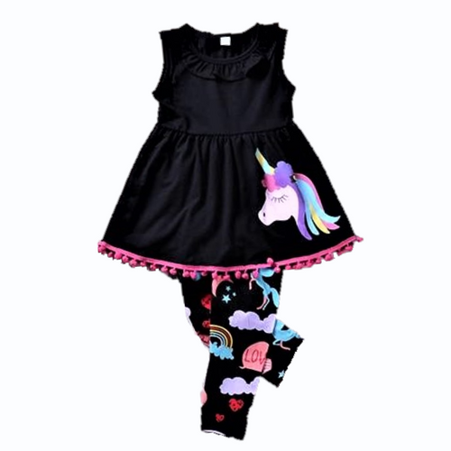 Jessie Unicorn Sleeveless Shirt & Leggings Set, 12M,  - CeCe & Jax