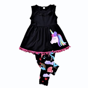 Jessie Unicorn Sleeveless Shirt & Leggings Set