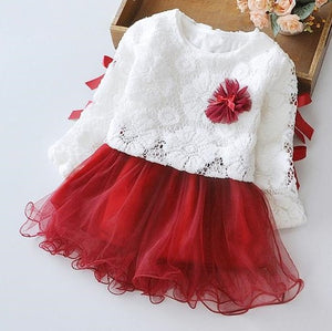 Lace Top Layer Dress, Brick, 24M - CeCe & Jax