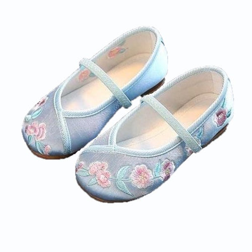 Hayden Embroidered Flats, Baby Blue, 10 - CeCe & Jax