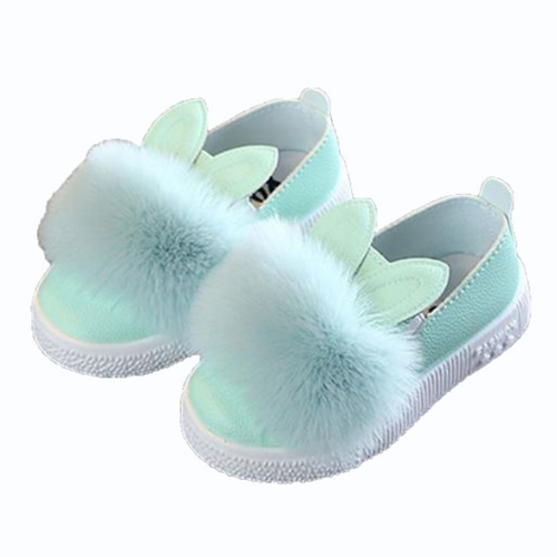 Pompom Bunny Shoes, Mint, 5.5 - CeCe & Jax