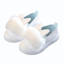 Load image into Gallery viewer, Pompom Bunny Shoes, White, 5.5 - CeCe & Jax