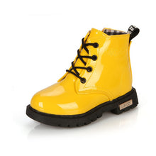 Load image into Gallery viewer, Zoey D Patent Leather Boots, Yellow, 10.5 - CeCe & Jax