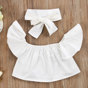 Jojo Crop Top & Jean Pants Set w| Headband, ,  - CeCe & Jax