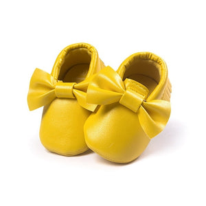Jane Moccasin Shoes, Golden Yellow, 5.5 - CeCe & Jax