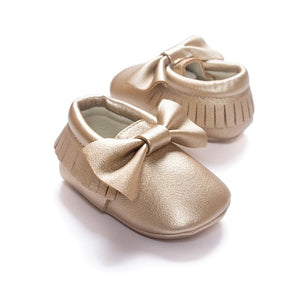 Jane Moccasin Shoes, Light Bronze, 5.5 - CeCe & Jax