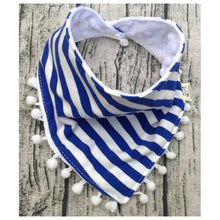 Load image into Gallery viewer, Joey Cotton Striped Bib, Blue,  - CeCe & Jax