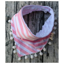 Load image into Gallery viewer, Joey Cotton Striped Bib, Pink,  - CeCe & Jax