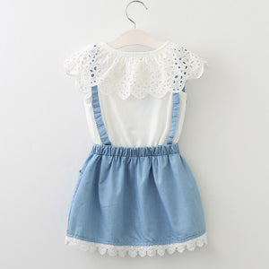 Marilyn Collar & Denim Dress, ,  - CeCe & Jax