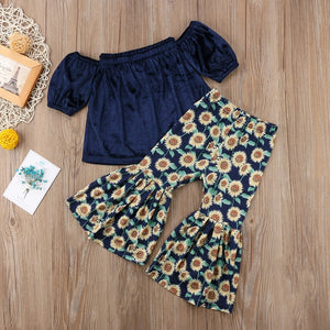 Sunflower Power Top & Pants Set, ,  - CeCe & Jax