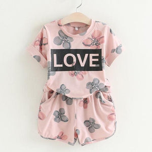 Ali Love Top & Shorts Set, Pink, 2T - CeCe & Jax