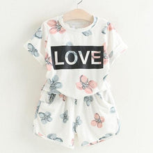 Load image into Gallery viewer, Ali Love Top & Shorts Set, White, 2T - CeCe & Jax
