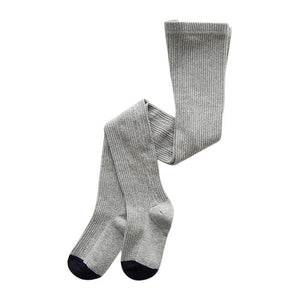 Knitted Plain Tights, Gray, 12M - 3T - CeCe & Jax