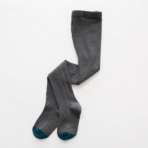 Knitted Plain Tights, Dark Gray, 12M - 3T - CeCe & Jax
