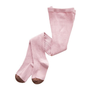 Knitted Plain Tights, Pink, 12M - 3T - CeCe & Jax