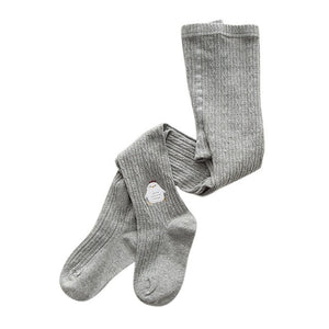 Knitted Little Critters Tights, Gray, 12M - 3T - CeCe & Jax
