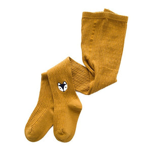 Knitted Little Critters Tights, Brown Mustard, 12M - 3T - CeCe & Jax