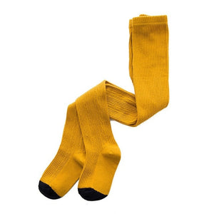 Knitted Plain Tights, Mustard, 12M - 3T - CeCe & Jax