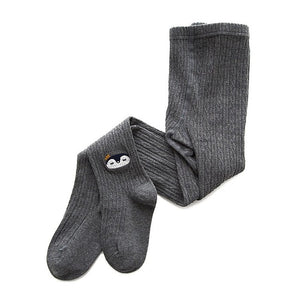Knitted Little Critters Tights, Dark Gray, 12M - 3T - CeCe & Jax