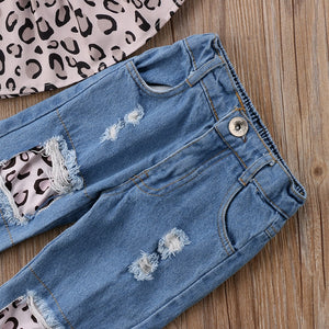 Leo Crop Top & Jeans Set w| Headband, ,  - CeCe & Jax