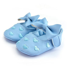 Load image into Gallery viewer, Queen of Hearts Leather Mary Janes, Sky Blue, 5.5 - CeCe & Jax
