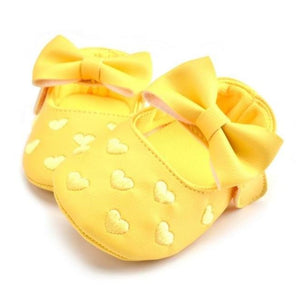 Queen of Hearts Leather Mary Janes, Yellow, 5.5 - CeCe & Jax