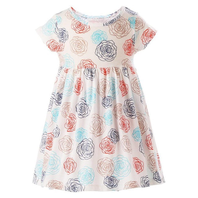 Stenciled Roses Dress, 3T,  - CeCe & Jax