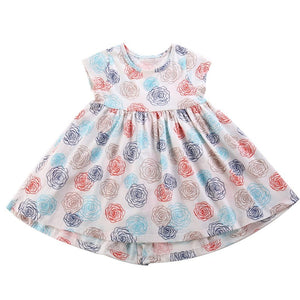 Stenciled Roses Dress, ,  - CeCe & Jax