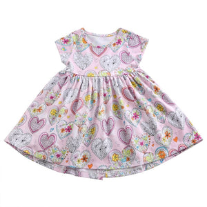 Stamped Hearts Dress, ,  - CeCe & Jax