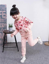 Load image into Gallery viewer, Flower Power Sweatsuit, Pink, 2T - CeCe & Jax