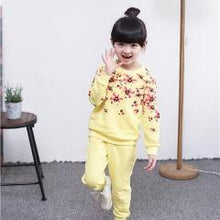 Load image into Gallery viewer, Flower Power Sweatsuit, Yellow, 2T - CeCe & Jax