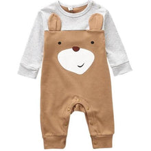 Load image into Gallery viewer, Woodland Cuties Bodysuit, Brown, Newborn - CeCe & Jax