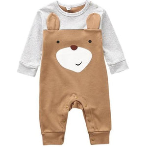 Woodland Cuties Bodysuit, Brown, Newborn - CeCe & Jax