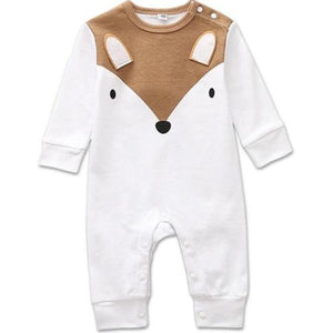 Woodland Cuties Bodysuit, White, Newborn - CeCe & Jax